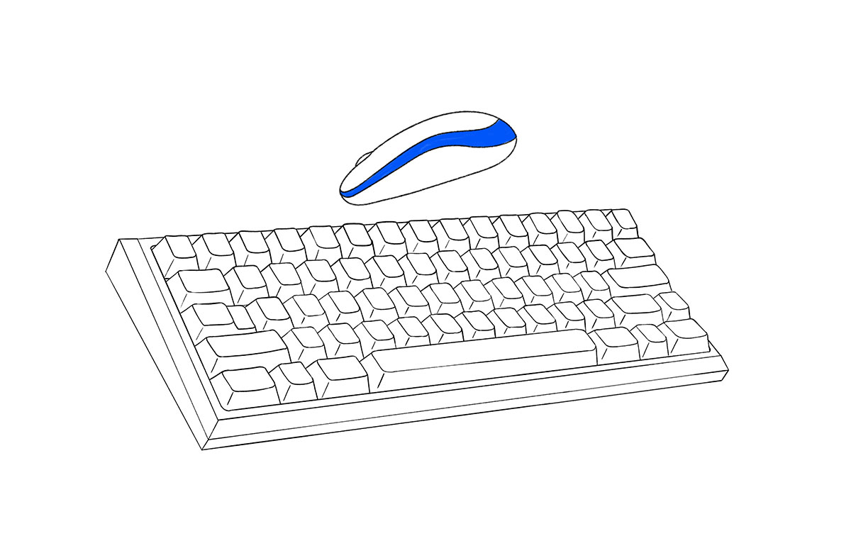 keyboard and mouse illustration