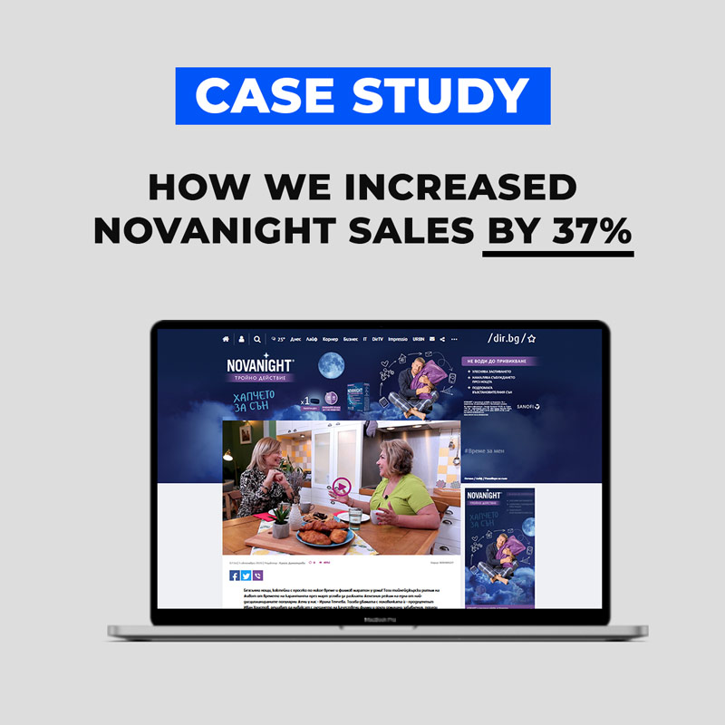 Novanight case study - how we grew sales by over 37%